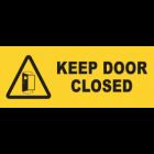Keep Doors Closed Sign