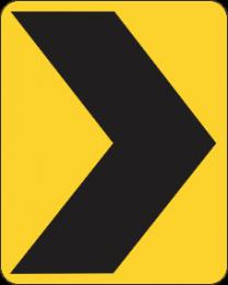 Chevron Alignment Marker Sign
