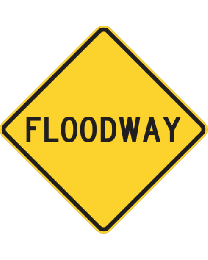 Flood Way Sign