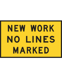 New Work No Lines Marked Sign