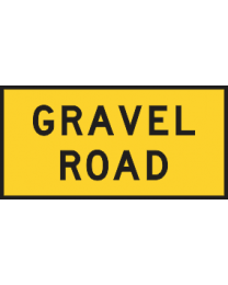Gravel Road Sign