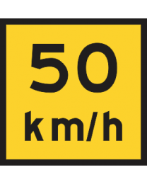 Advisory Speed ...Km/h Sign