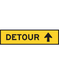 Detour Reassurance Sign