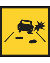 Pot Holes Ahead Sign