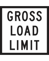 Gross Load Limit Sign