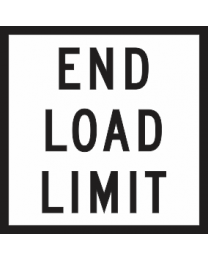 End Load Limit Sign