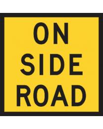 On Side Road Sign