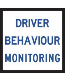 Driver Behaviour Monitoring Sign