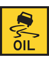 Slippery Oil Sign