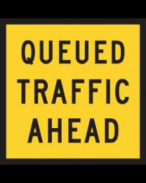 Queued Traffic Ahead Sign