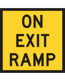 On Exit Ramp Sign