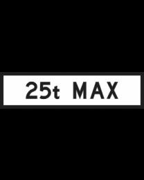 25t Max Sign