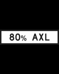 80% AXL Sign