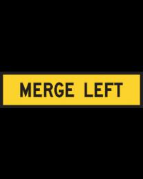 Merge Left Sign
