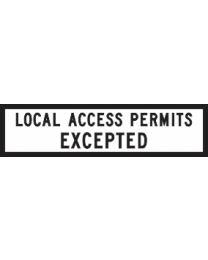 Local Access permits Expected Sign