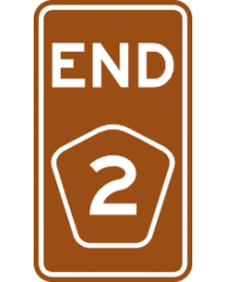 Tourist Drive Markers Shield - Numeral Symbol Logo and End