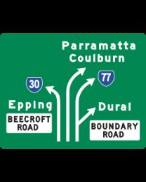 Traffic Instruction Sign - Lane Designation Sign