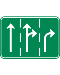 Traffic Instruction Sign - No Destination or Added Lane