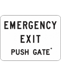 Emergency Exit Push Gate Sign