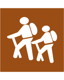 Walking Trail Left or Right Sign