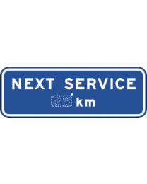 Next Service ...km Sign