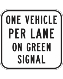 One Vehicle Per Lane On Green Signal