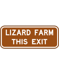 Freeway Guide Sign - ...This Exit