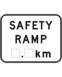 Safety Ramp....Km Sign