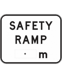 Safety Ramp ...m Sign