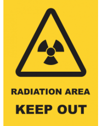 Radiation Area Keep Out Sign