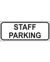 Staff Parking Sign