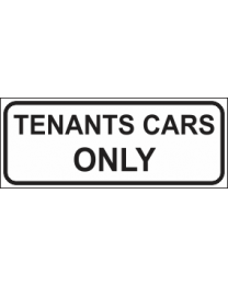 Tenants Cars Only Sign