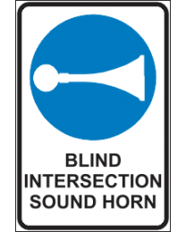 Blind Intersection Sound Horn Sign
