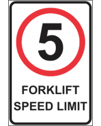 Forklift Speed Limit Sign