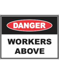 Workers Above Sign