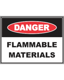 Flammable Materials Sign