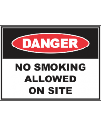 No Smoking Allowed On Site Sign