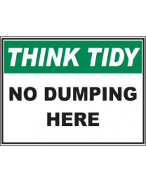No Dumping Here Sign