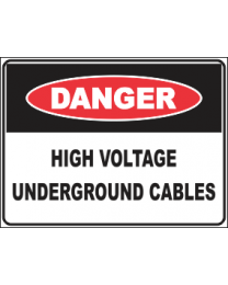 High Voltage Underground Cables Sign