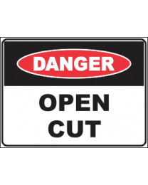 Open Cut Sign