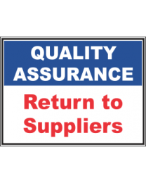 Return To Suppliers Sign