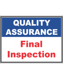 Final Inspection Sign