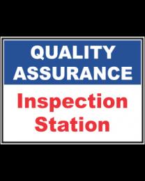 Inspection Station Sign