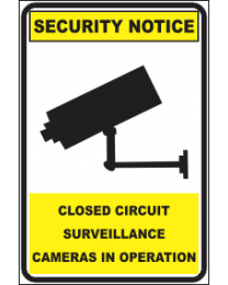 Closed Circuit Surveillance Camers In Operation Sign