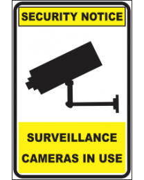 Surveillance Camers In Use Sign