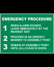 Emergency Procedure Sign