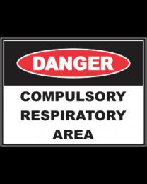 Compulsory Respiratory Area Sign