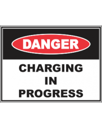 Charging In Progress Sign