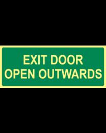 Exit Door Open Outwards Sign