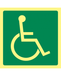 Disabled Exit Sign